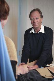 Aanmeten van Therapeutische Elastische Kousen (TEK) ofwel steunkousen bij PMC Fysiotherapie te Beverwijk